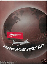 AMERICAN AIRLINES 1952 243,842 MILES EVERY DAY SINCLAIR OIL 2 PG DC-6 & CV240 AD