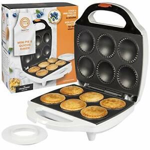 MasterChef Mini Pie and Quiche Maker- Pie Baker Cooks 6 Small Pies and Quiche...