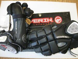 "Lacrosse Maverick GoalKeeper Gloves Rome NXT Black  12"" Medium NEW"