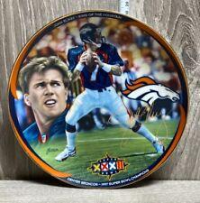 "John Elway - King Of The Mountain-Bradford Exchange -""Super Bowl Champion"" Plate"