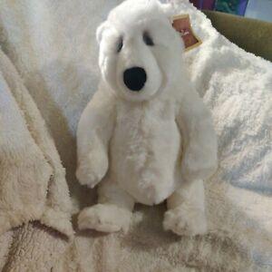 "Lou Rankin Friends Dakin Plush Lg White Fairbanks Jr Polar Bear Applause 14"" Tag"