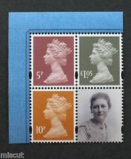 DY19 - 2016 - Beatrix Potter - M16L + MPIL 5p, 10p, £1.05 MACHINS + LABEL