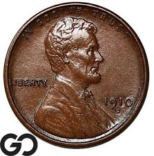 1910-S Lincoln Cent Wheat Penny, Better Date San Francisco Issue