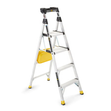 Step Ladder 10 ft. Reach Type 1A - 300 lbs. Capacity Foldable Aluminum