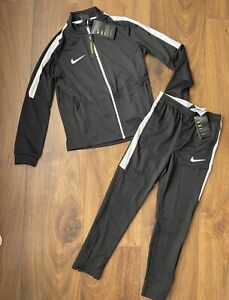 New Nike Academy Dri-fit Boys Tracksuit Jumper & Joggers Size M 10-11 Years
