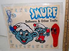 LP16 Vintage Gumball Machine Display Card Back Original SMURF Charm #8