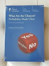 Great Courses -What Are the Chances?Probability Made Clear,Dvd,Book s,new,2 set
