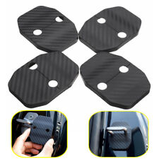 4Pcs Door Lock Carbon Fiber Cover Protector Striker Trim For BMW X5 F15 14-16