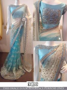 Bollywood Indian Pakistani Ethnic Party Wear Saree NET Designer Sari with Blouse