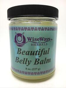 Wiseways Herbals, Beautiful Belly Balm 8oz Exp 01/22 New w/ Distressed Label C7C