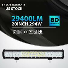 "3D 20""inch 294W LED LIGHT BAR SPOT FLOOD Offroad DRIVING LAMP 4WD ATV UTE 22"""