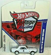 HOT WHEELS 2011 VINTAGE RACING A.J. FOYT'S WHITE '65 FORD MUSTANG REAL RIDERS