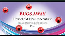 """Bugs Away"" Household Flea Killing Spray For Cat Dog Carpet Soft Furniture Bed"