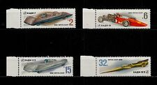 USSR RUSSIA STAMP MNH-OG 1980 Prototypes of SOVIET RACING CARS. Voitures URSS.