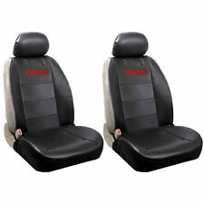 4PC GMC ORIGINAL BLACK SYNTHETIC LEATHER SIDE LESS SEAT COVERS AIRBAG READY
