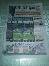 Gazzetta dello Sport 15/3/2012 CHELSEA-NAPOLI 4-1 CHAMPIONS LEAGUE GRAZIENAPOLI