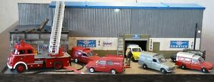 """QHC Diorama 1:43 """"DAF Workshop on fire!"""" with lighting and fire effect!"""