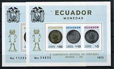 Ecuador Block 65 A + B postfrisch / Fußball ..............................1/1643