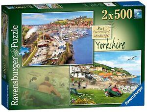 Ravensburger - 2 x 500 PIECE JIGSAW PUZZLES - Yorkshire Picturesque Landscapes 1