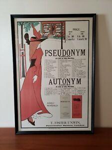 Aubrey Beardsley - Original Lithograph Poster - Pseudonym Autonym #155 - 1966
