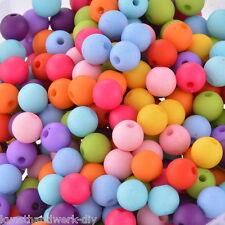 KUS 300 Mix Farben Acryl Rund Kugel Spacer Perlen Beads Opak 8mm