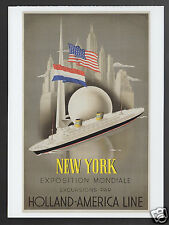 WILLEM FREDERICK TEN BROEK Holland-America Line NEW YORK TRAVEL POSTER POSTCARD