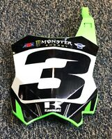 Eli Tomac Replica Monster Energy Supercross Front number Plate #3 Unsigned