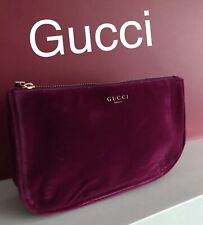a0b5cceaecd 🆕GUCCI BURGUNDY Red VELVET POUCH Make Up Purse New   Sealed!