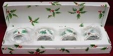 MIKASA china RIBBON HOLLY CAF03 pattern NAPKIN RING set of FOUR (4) in Box