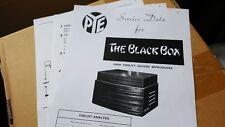 "Pye "" the blackbox "" Data Sheets Mk2 + Tss Sheets"