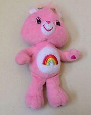 "Care Bears Cheer Pink Rainbow Plush Stuffed Animal 9"""