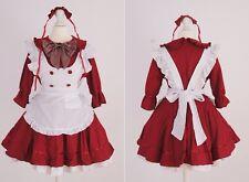 Z-07 Gr S M One Size red Maid Dienstmädchen Cosplay Kleid dress Kostüm costume