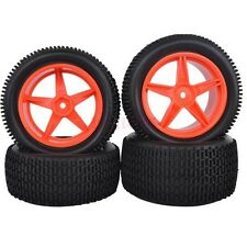 RC 1/10 Off-Road Car Buggy Front &Rear Rubber Tyre Tires &Wheel Rims 66050-66060