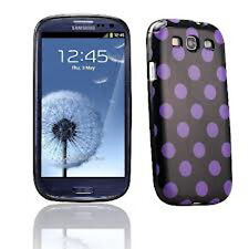 Samsung Galaxy S3 Polka Dot Case / Cover - Purple and Black