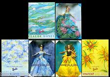 Renoir Reflections of Light Barbie Doll Water Lily Monet Sunflower Van Gogh Lot