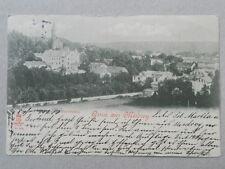 Gruss aus Misdroy Międzyzdroje gel. 1899 Panorama Gesamtansicht Litho Polska