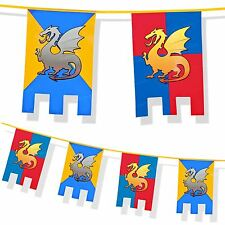 Medieval Knights and Dragons Party Decoration Thrones 6m Bunting Wall Fete Feast