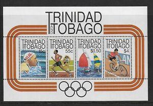 1984 Trinidad & Tobago: Olympics LA Minisheet SG MS660  Unmounted Mint (MNH)