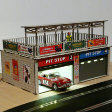 1:32 Scale Double Pit Stop Kit w/Light and Overhead Doors For Slot Cars
