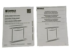 Kenmore Elite Ultra Wash Dishwasher Use Care Installation Owners Manual Booklets