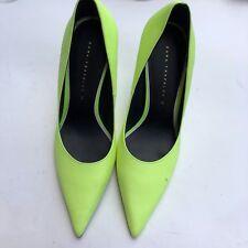 be228f6143f Zara Women s Green Slip On Pointed Toe Kitten Heel Sandals Pumps Shoes Size  7.5