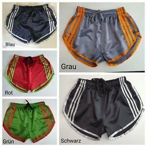 Nylon Satin Sprint Shorts mit Gummizug Retro Shorts Größe S~4XL