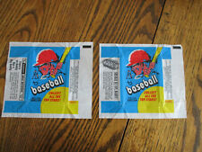 2 DIFFERENT 1971 Topps Baseball Card 10 Cent Wax Pack Wrappers BUDDY * SHAKE
