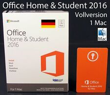 Microsoft Office Home and Student 2016 VERSIONE COMPLETA BOX 1 Mac tedesco OVP NUOVO