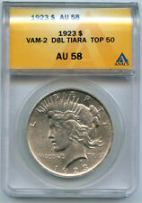 1923 ANACS VAM-2 Doubled Tiara (Top 50 Peace Dollar VAM)