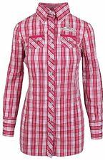 L' ARGENTINA Damen Long Bluse Longbluse Shirt Größe 38 M Kariert Checkerred NEU