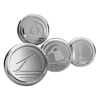 For Ford Mustang 10-14 Cap Cover Set ACC Polished Cap Cover Set w/o Power
