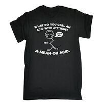 Acid With Attitude T-SHIRT Science Geek Nerd Tee Top Funny birthday fashion gift