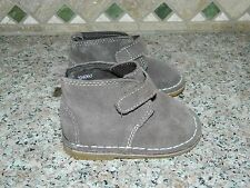 BABY GAP boys Cocoa Brown Leather Suede BOOTS SHOES* Infant Toddler 4  NEW NWOT