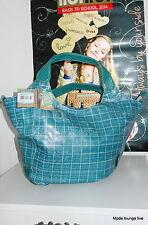 Noi Hi Di Bolso Bandolera Turismo bag azul petróleo to escuela verde marrón Saco